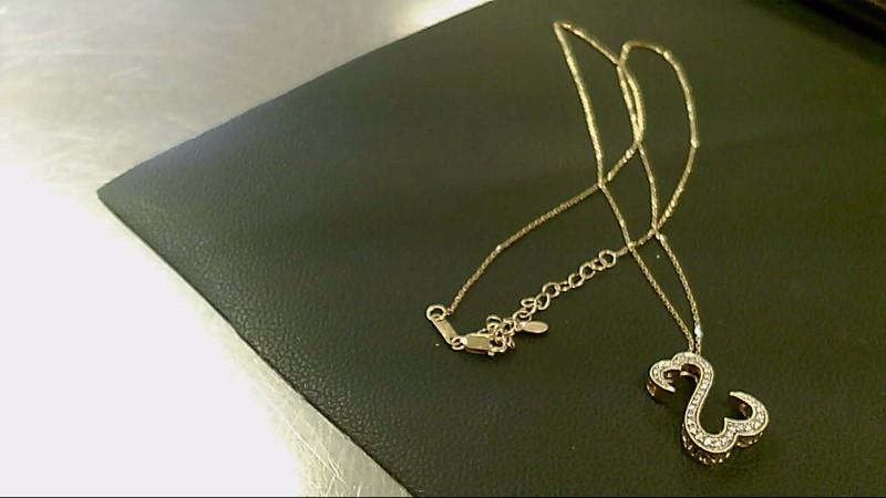 Diamond Necklace 31 Diamonds .31 Carat T.W. 14K Yellow Gold 4.4g