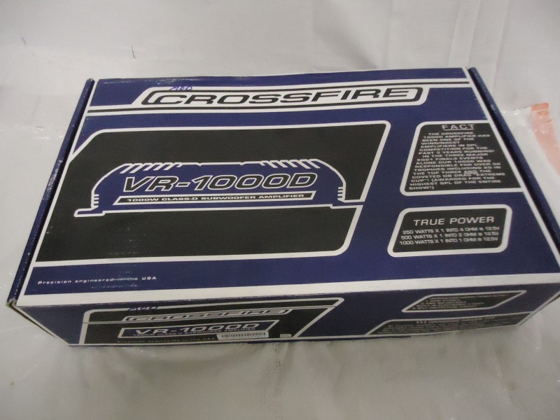 CROSSFIRE CAR AUDIO Car Amplifier VR1000D