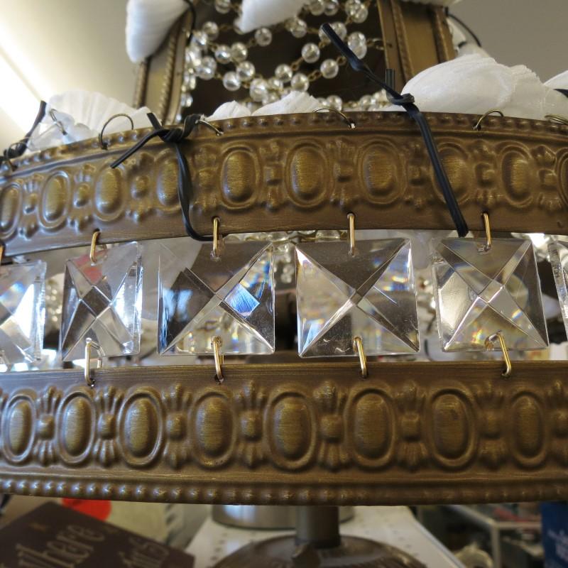 FLUSH MOUNT CRYSTAL CHANDELIER by THE FIND - Brass hardware