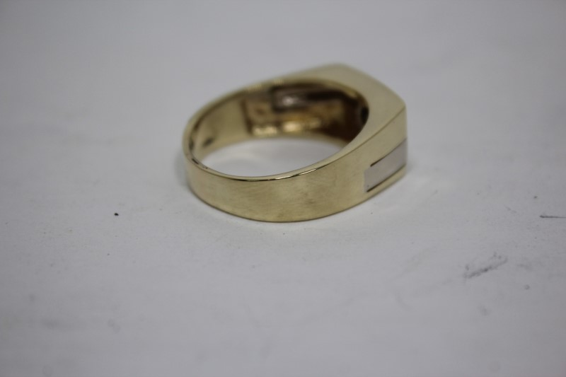 Gent's Gold-Diamond Wedding Band .40 CT. 14K 2 Tone Gold 11g Size:12.5