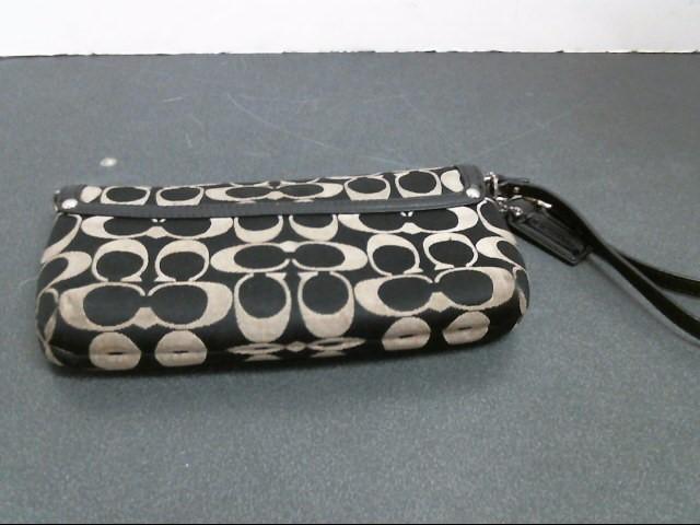 COACH Handbag WRISTLET MONOGRAM BLACK