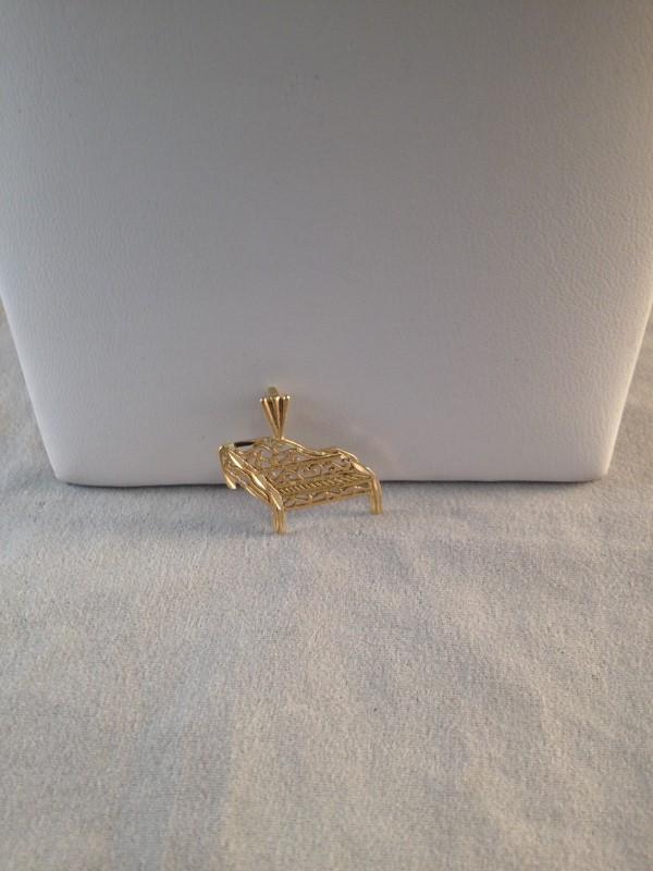 Gold Grand Piano Charm 14K Yellow Gold 1.03g