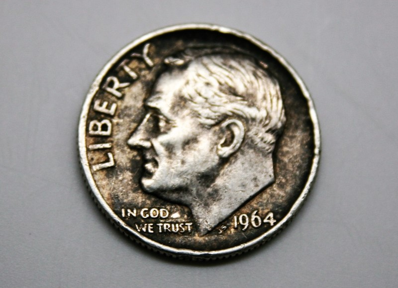 UNITED STATES SILVER ROOSEVELT DIME 1964