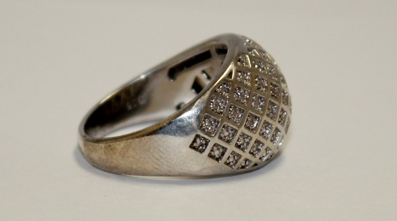 Sterling Silver Dome Ring Size 7