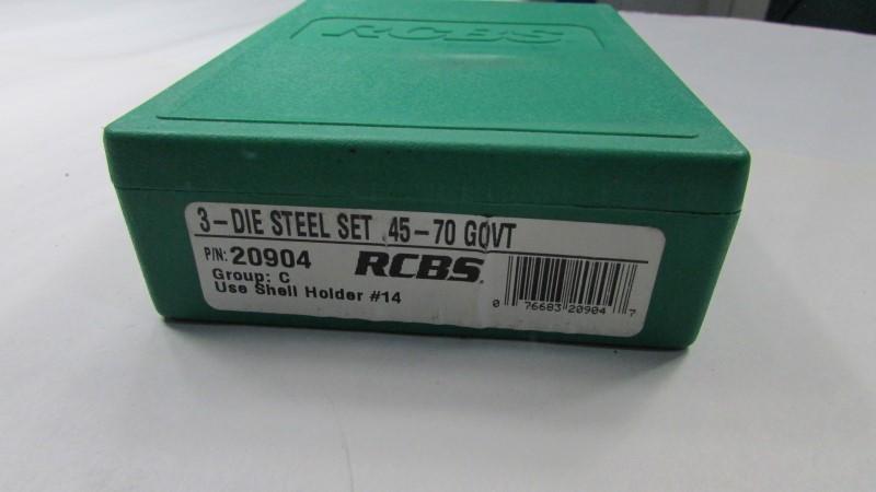 RCBS 3 DIE STEEL SET .45-70 GOVT