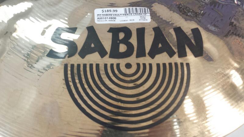 """SABIAN Cymbal VAULT CRASH 18"""" 46CM"""