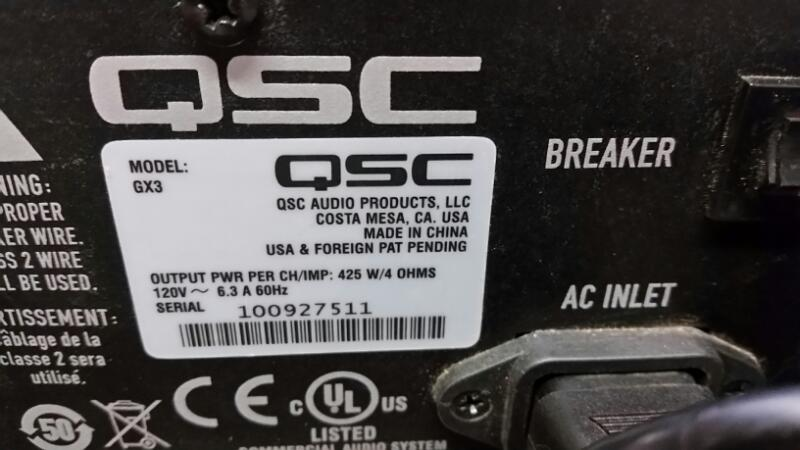 QSC AUDIO DJ Equipment GX3