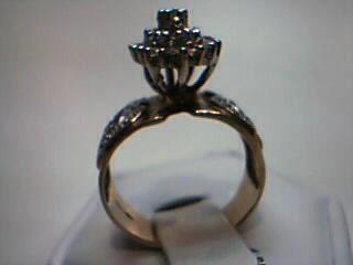 Lady's Diamond Cluster Ring 35 Diamonds .35 Carat T.W. 10K Yellow Gold 5.3g