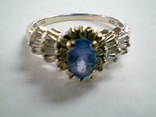 Purple Stone Lady's Stone & Diamond Ring 26 Diamonds .76 Carat T.W.