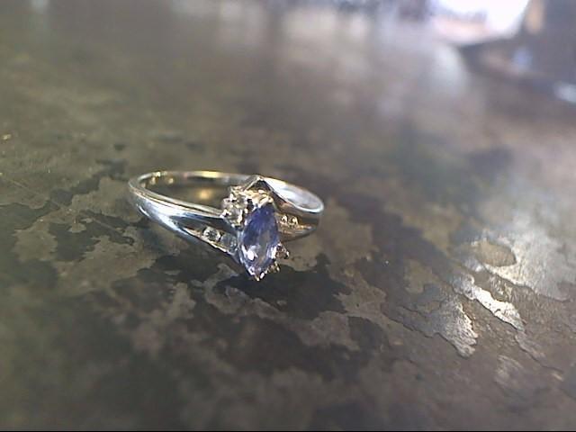 Purple Stone Lady's Stone Ring 10K White Gold 1.4dwt