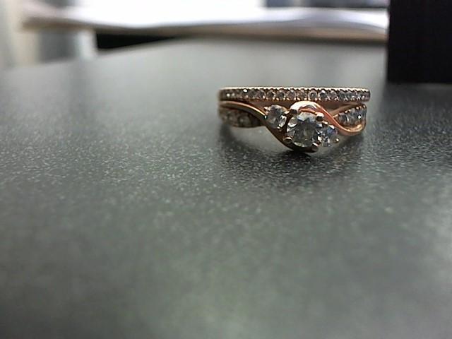 Lady's Diamond Wedding Band 34 Diamonds .92 Carat T.W. 10K Rose Gold 5.6g