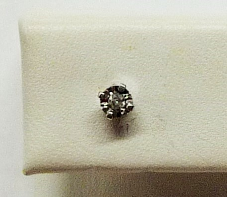 Gold-Diamond Earrings .03 CT. 10K White Gold 0.12dwt