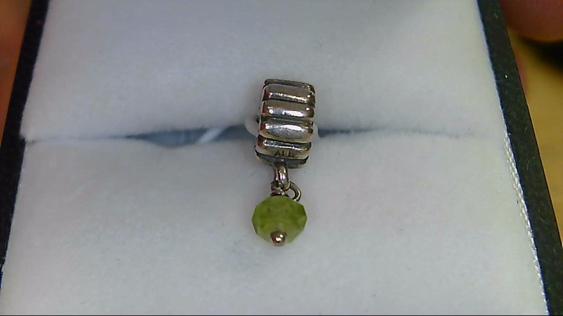 Pandora Green Bead Dangle Silver 925