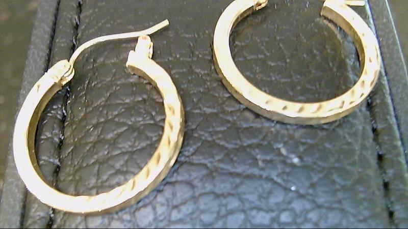 lady's 14kyg diamond cut hoop earrings