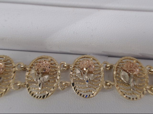 Gold Bracelet 14K Yellow Gold 16.3g