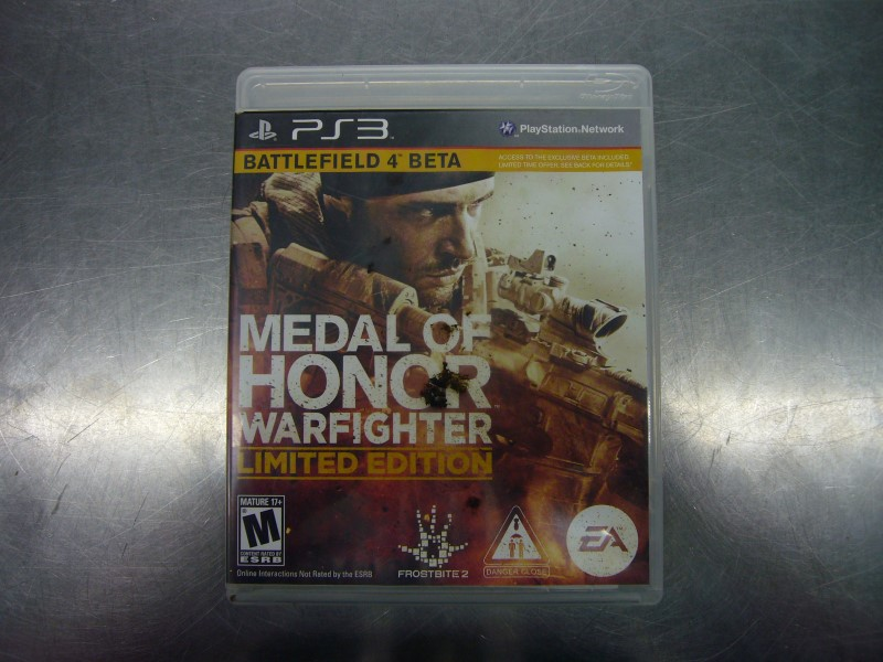 SONY PlayStation 3 Game MEDAL OF HONOR WARFIGHTER LIMITED EDITION