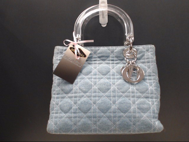 CHRISTIAN DIOR DENIM QUILTED LADY DIOR