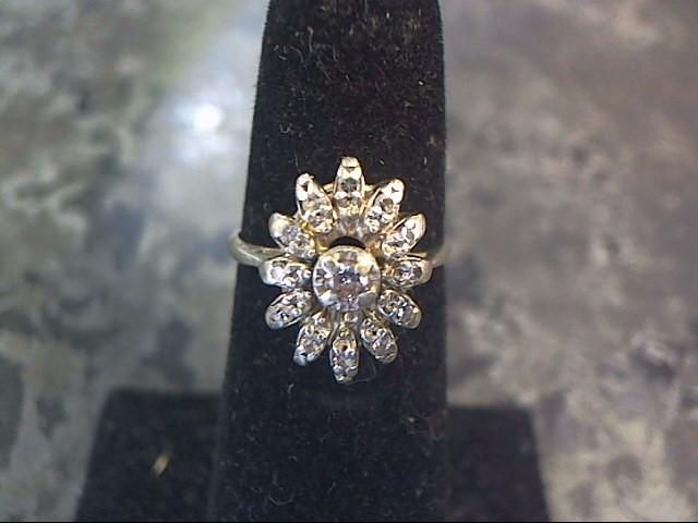 Lady's Diamond Cluster Ring 13 Diamonds .46 Carat T.W. 14K White Gold 1.7dwt
