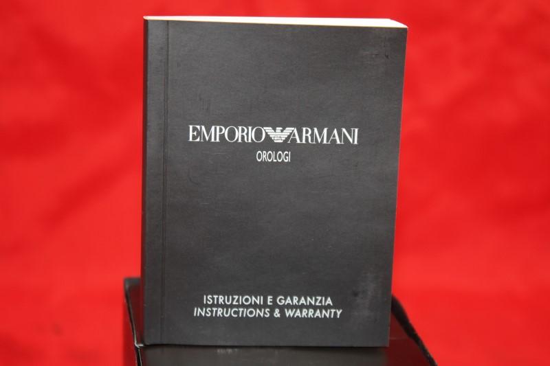 Emporio Armani AR0680 Stainless Men's Watch Retail $245