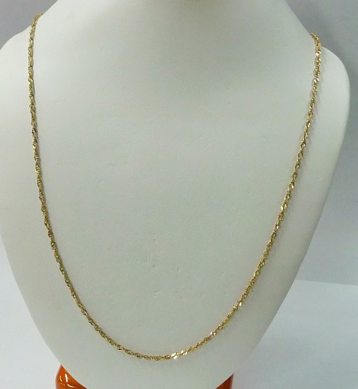 """24"""" Gold Rope Chain 10K Yellow Gold 6.38dwt"""