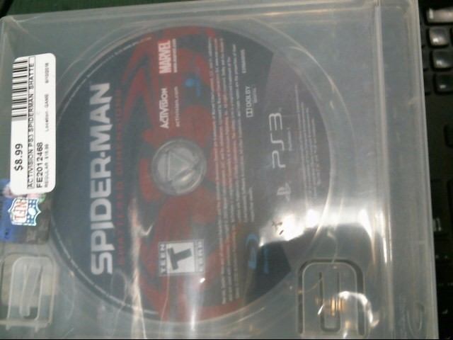 ACTIVISION Sony PlayStation 3 Game SPIDERMAN: SHATTERED DEMINSIONS