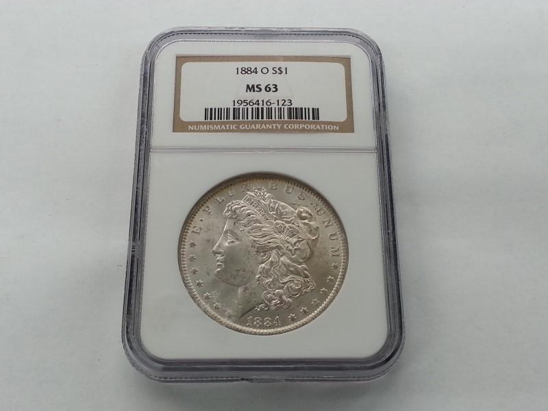 1884-O MORGAN S$1 MS63 NGC # 1956416-123