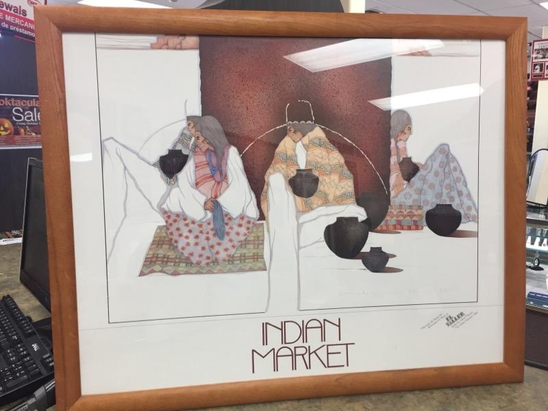 AMADO PENA Painting INDIAN MARKET