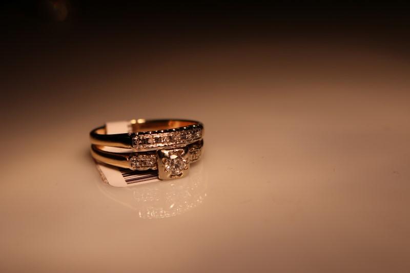 LDS 14KT Lady's Diamond Wedding Set DIAMOND 11 Diamonds .30 Carat T.W.