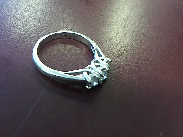 Lady's Platinum-Diamond Solitaire 3 Diamonds .65 Carat T.W. 950 Platinum 4.4dwt