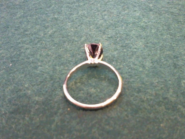 Lady's Diamond Solitaire Ring 1.25 CT. 14K White Gold 2.6g Size:9
