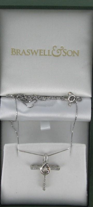 Diamond Necklace 20 Diamonds .48 Carat T.W. 10K White Gold 2.1dwt