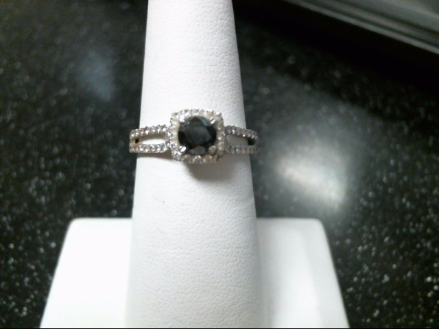 Black Stone Lady's Stone & Diamond Ring 57 Diamonds .57 Carat T.W.
