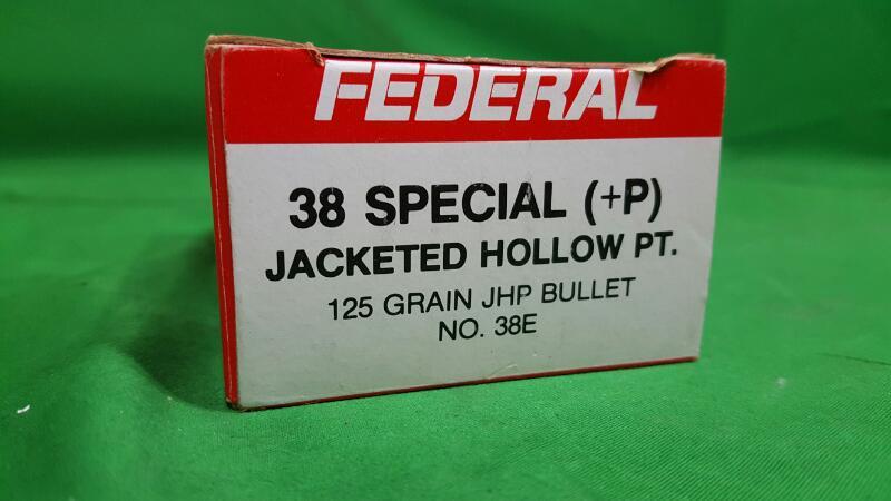 FEDERAL AMMUNITION Ammunition 38SP +P 125 GRAIN JHP