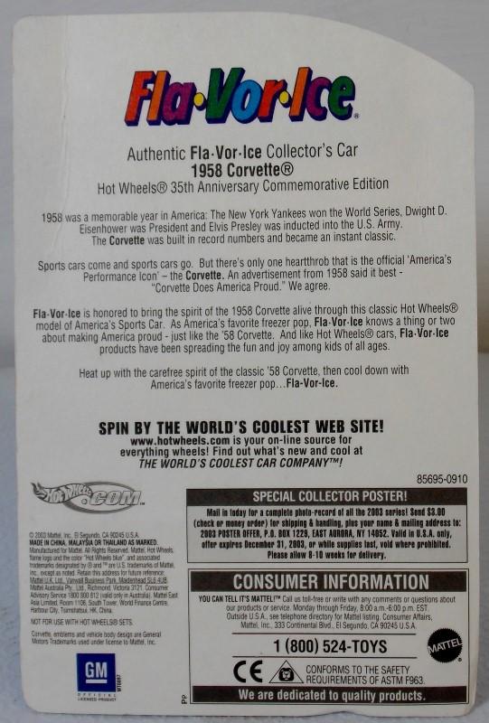 HOT WHEELS FLA-VOR-ICE: '58 CORVETTE AND SUPER TSUNAMI