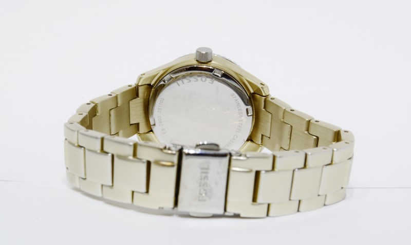 Fossil Stella Mini Aluminum Gold Toned Women's Watch ES-2902