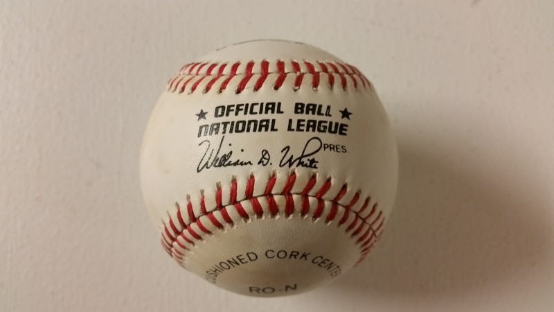 Hank Aaron Autographed National League Baseball (Small Sig) *NO COA*