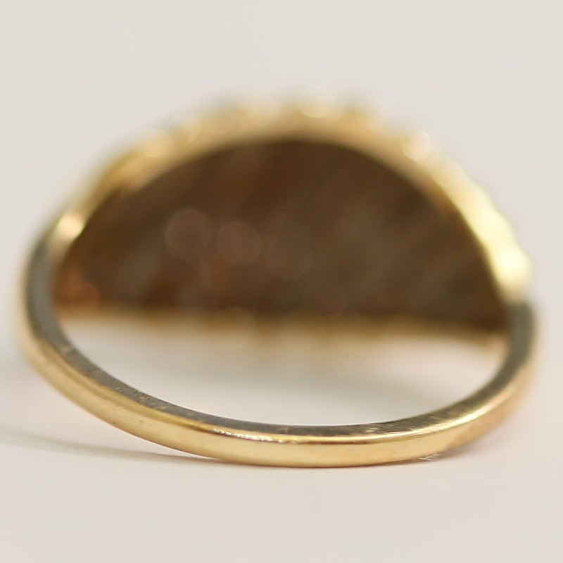 10K Yellow Gold Spiral Design Ring Size 6.25