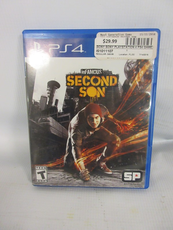 Infamous Second Son, PS4
