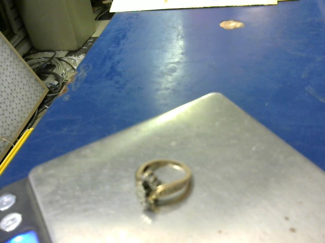 Lady's Diamond Wedding Set 21 Diamonds .42 Carat T.W. 14K Yellow Gold 6.78g