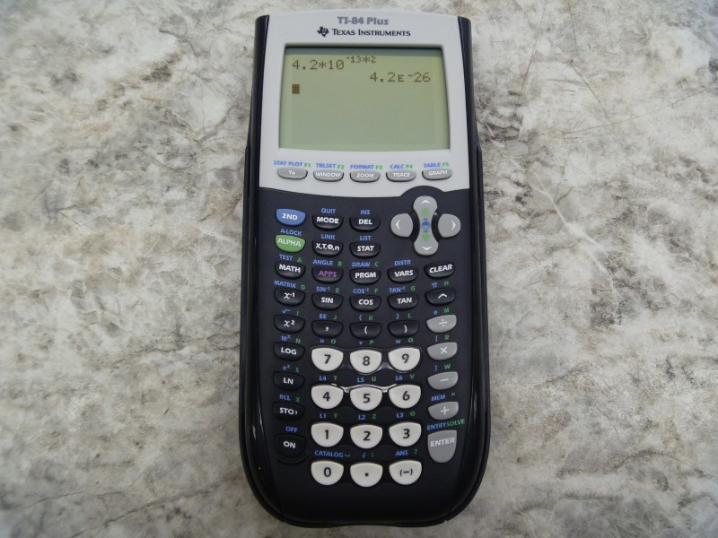 TEXAS INSTRUMENTS TI-84 PLUS GRAPHICS CALCULATOR, BLACK WITH COVER