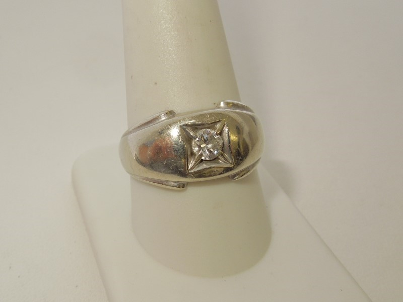 Lady's Diamond Solitaire Ring .30 CT. 14K White Gold 4.3g