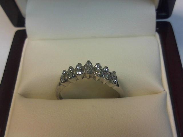 Lady's Diamond Wedding Band 14 Diamonds .28 Carat T.W. 14K White Gold 1.5dwt