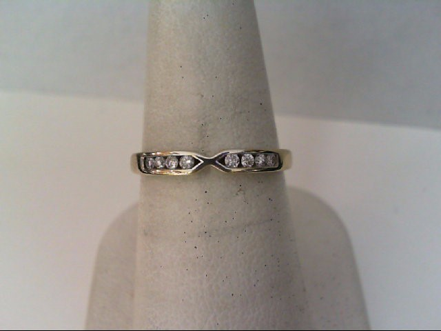 Lady's Diamond Wedding Band 8 Diamonds .16 Carat T.W. 10K White Gold 1.9g