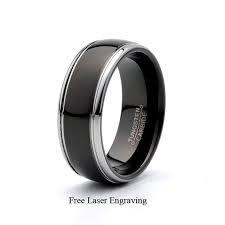Gent's Ring Black Tungsten 19.6g