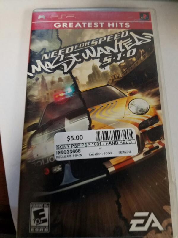 Need For Speed most waned 5-1-0 - PSP GAMES