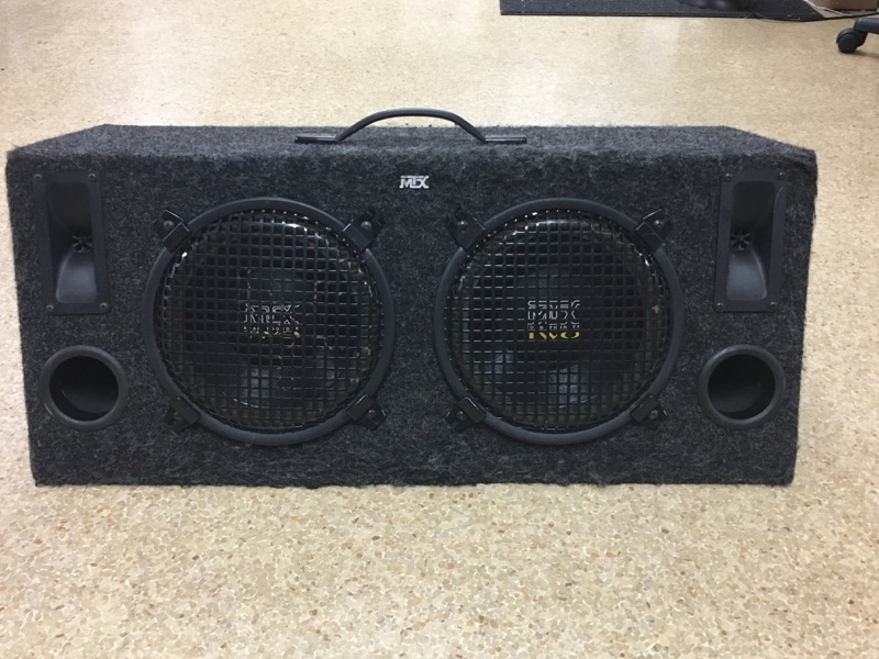 """MTX ROAD THUNDER TWO, IN CARPETED BOX, 10"""""""