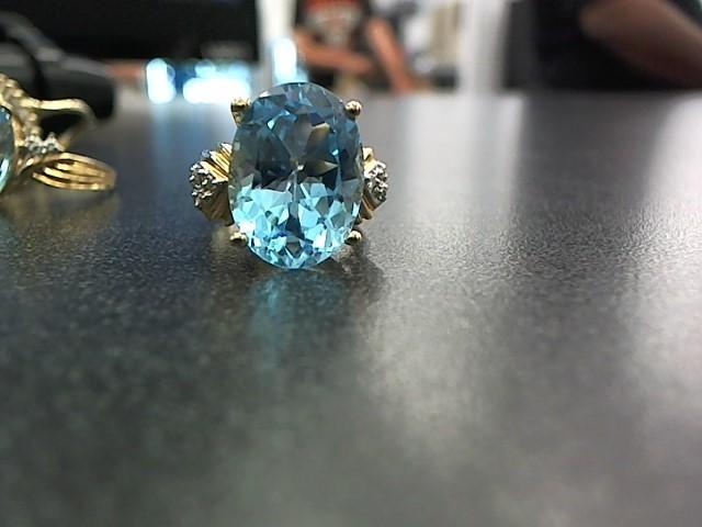 Blue Stone Gold-Stone Scrap 14K Yellow Gold 8.4g