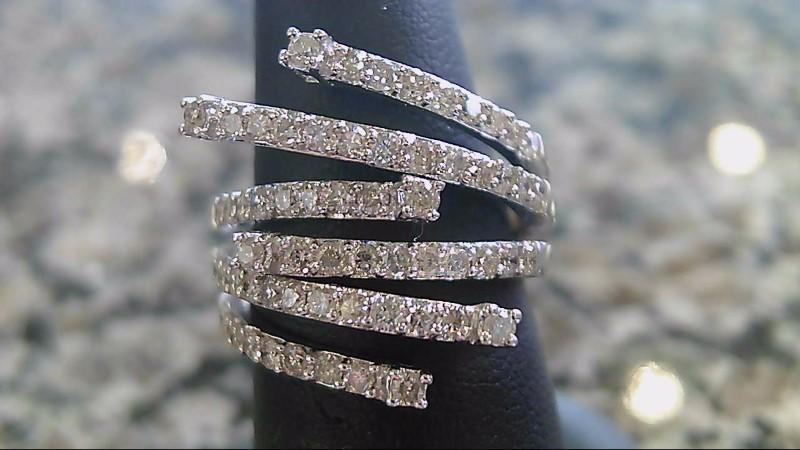 Lady's Diamond Fashion Ring 70 Diamonds 1.40 Carat T.W. 14K White Gold 7.9g