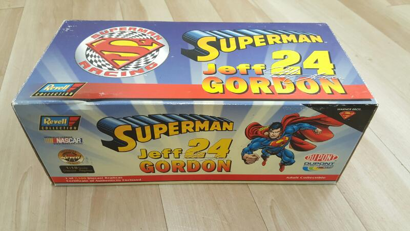REVELL COLLECTION Toy Vehicle JEFF GORDON SUPERMAN 1:24 SCALE DIE CAST CAR
