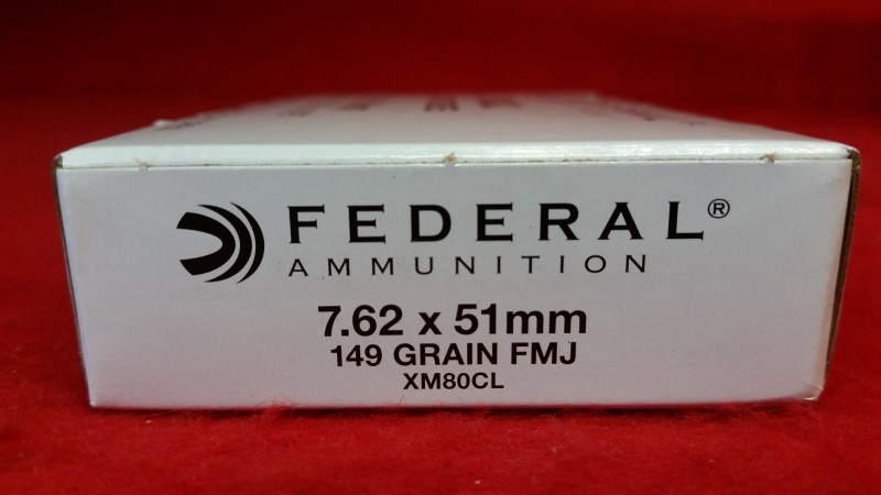 Federal 7.62x51 149gr FMJ Ammo / 20rds / XM80CL